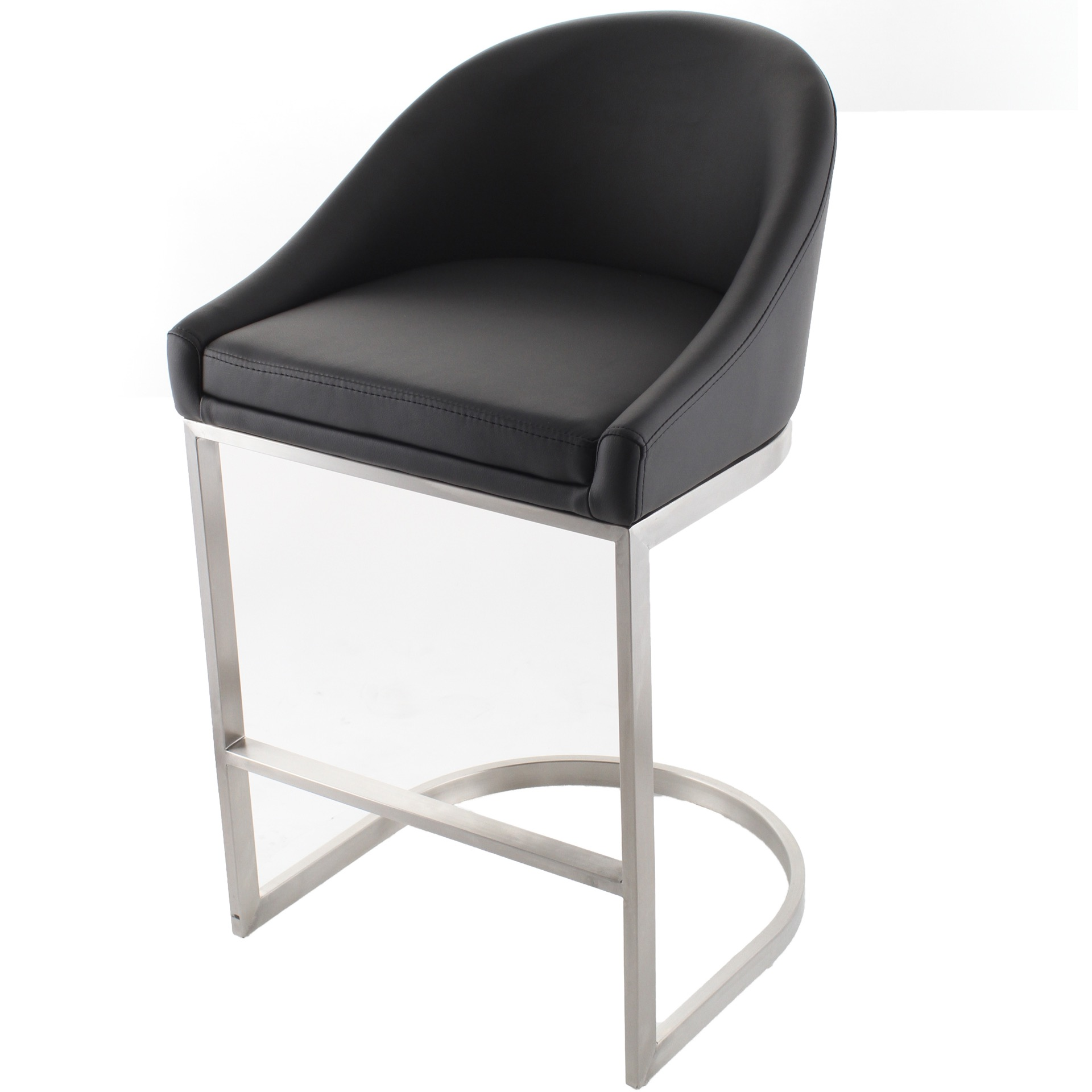 Amazing Otus 26 Brushed Stainless Steel Curved Stationary Counter Bralicious Painted Fabric Chair Ideas Braliciousco